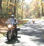 motorcycle tour in the mountains of North Carolina